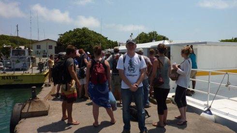 Arrival on Utila Island